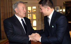 Meeting with professional boxer, Honoured Master of Sports of Kazakhstan Gennady Golovkin