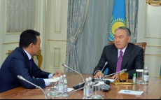 "Meeting with ""KazMunayGas"" JSC Board Chairman Sauat Mynbayev"