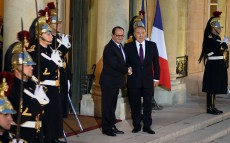 Meeting with President of the French Republic Francois Hollande