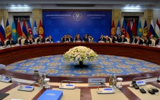 Participation in the Council of CIS Heads of State meeting