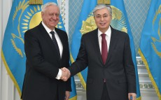 The President of Kazakhstan receives Mikhail Myasnikovich, Chairman of the Board of the Eurasian Economic Commission